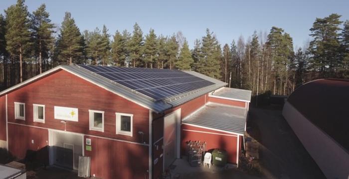 Aurinkosähköä Tammisaaressa
