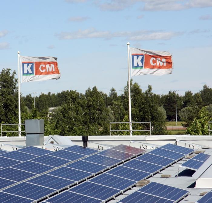 Kaupan katolta aurinkosähköä