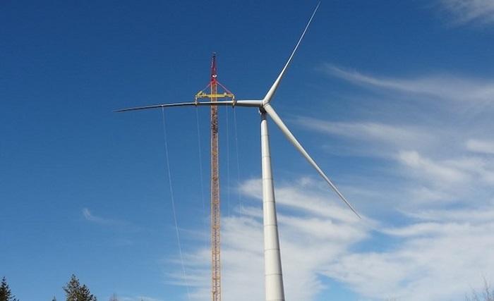 Paltusmäen tuulipuisto rakenteilla